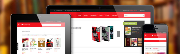 JA Bookshop, Joomla & MijoShop template