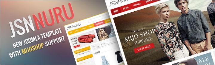 JSN Nuru, Joomla & MijoShop theme
