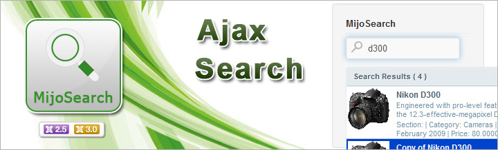 MijoSearch v.2 released, Ajax Search